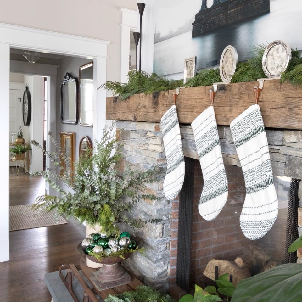 Vintage American Wormy Chestnut Beams and Mantels