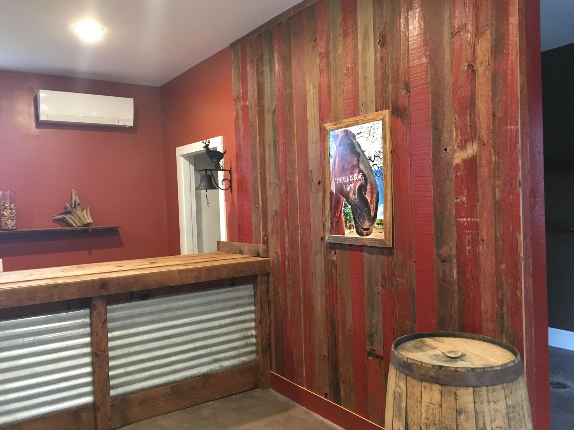 Red Barn Siding and Mushroom Wood