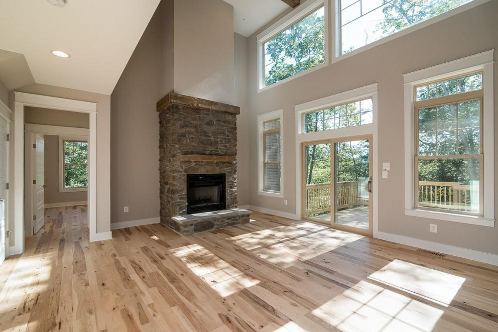 Rustic Hickory Flooring 3″-6″ Hand Hewn Beams and Mantels